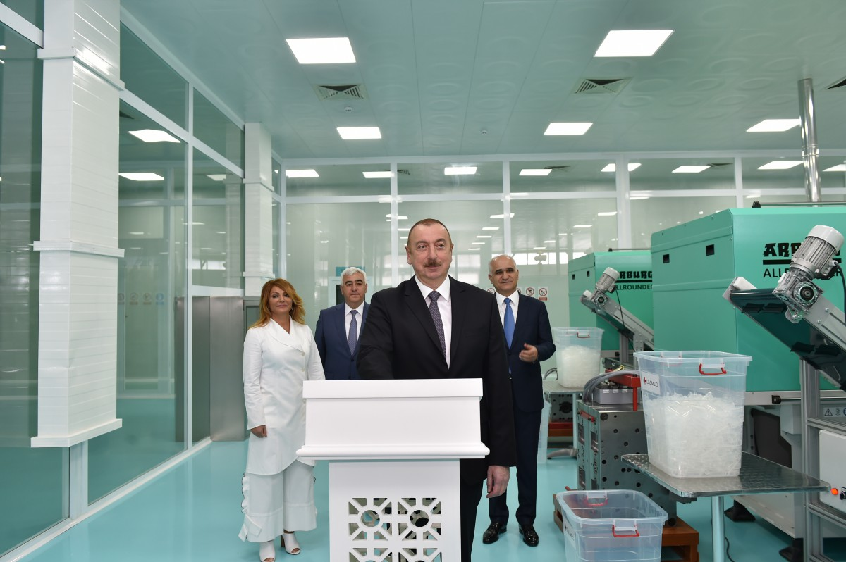 "Opening ceremony of ""Diamed Co"" syringe plant in Pirallahi Industrial Park"